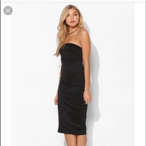 Urban out Fitters strapless black midi dress small